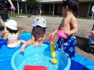 楽しい水遊び!(大島)