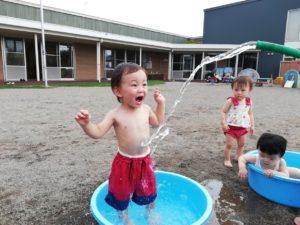 水遊び楽しかったね!(続橋)
