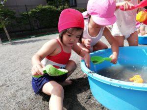 気持ちいい!水遊び!(江藤)