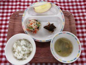 今日の給食:レバーの胡麻ソース(本園)