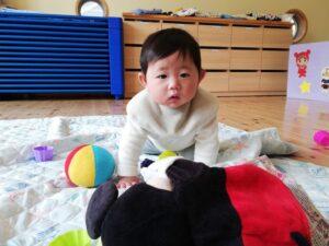 初めての園庭散歩&外気浴☆(坂本)