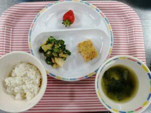 今日の給食:松風焼き(本園)