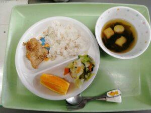 今日の給食(薬師寺保育園)